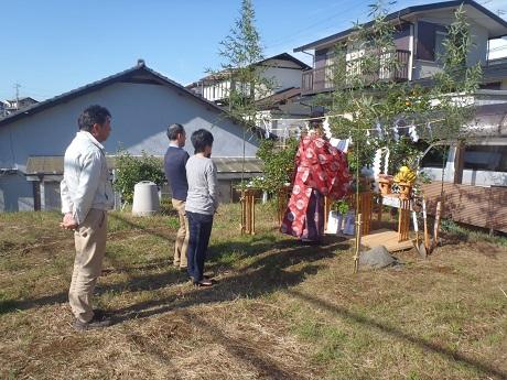 三島市E邸「地鎮祭」